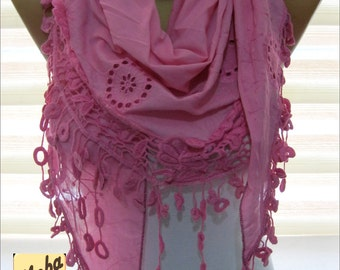 Pink scarf-Fashion scarf - gift Ideas For Her Women's Scarves-  for her -Fashion accessories