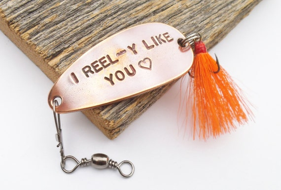 Customized gift for him i reel y like you fishing lure for Unique fishing gifts