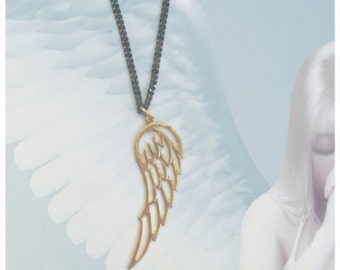 Gold plated Angel wing
