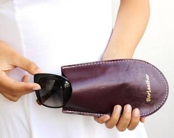 Eyeglasses case soft leather , Eyeglasses case leather , Leather sunglasses case, Eye glasses case leather , Leather glasses case