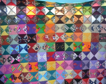 Patchwork queen quilt