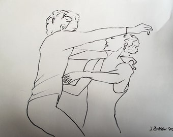 Modern Dance - Original Drawing