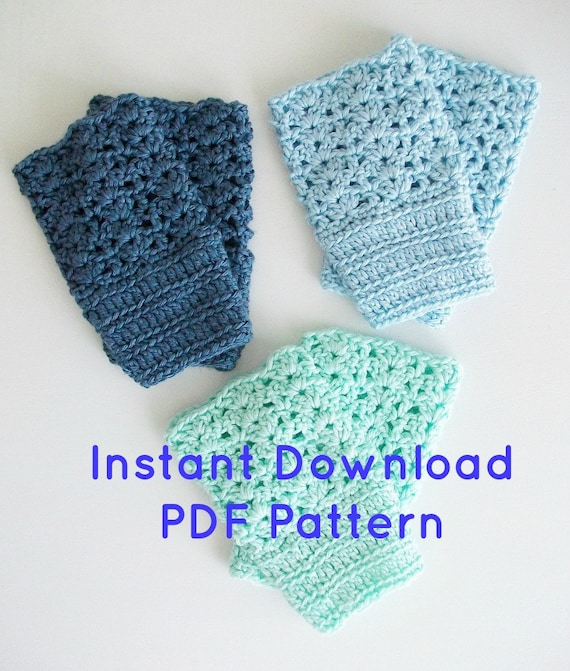 Beginner Crochet Boot Cuff Pattern : Easy Crochet Boot Cuffs Pattern Instant by BlueStockinette ...