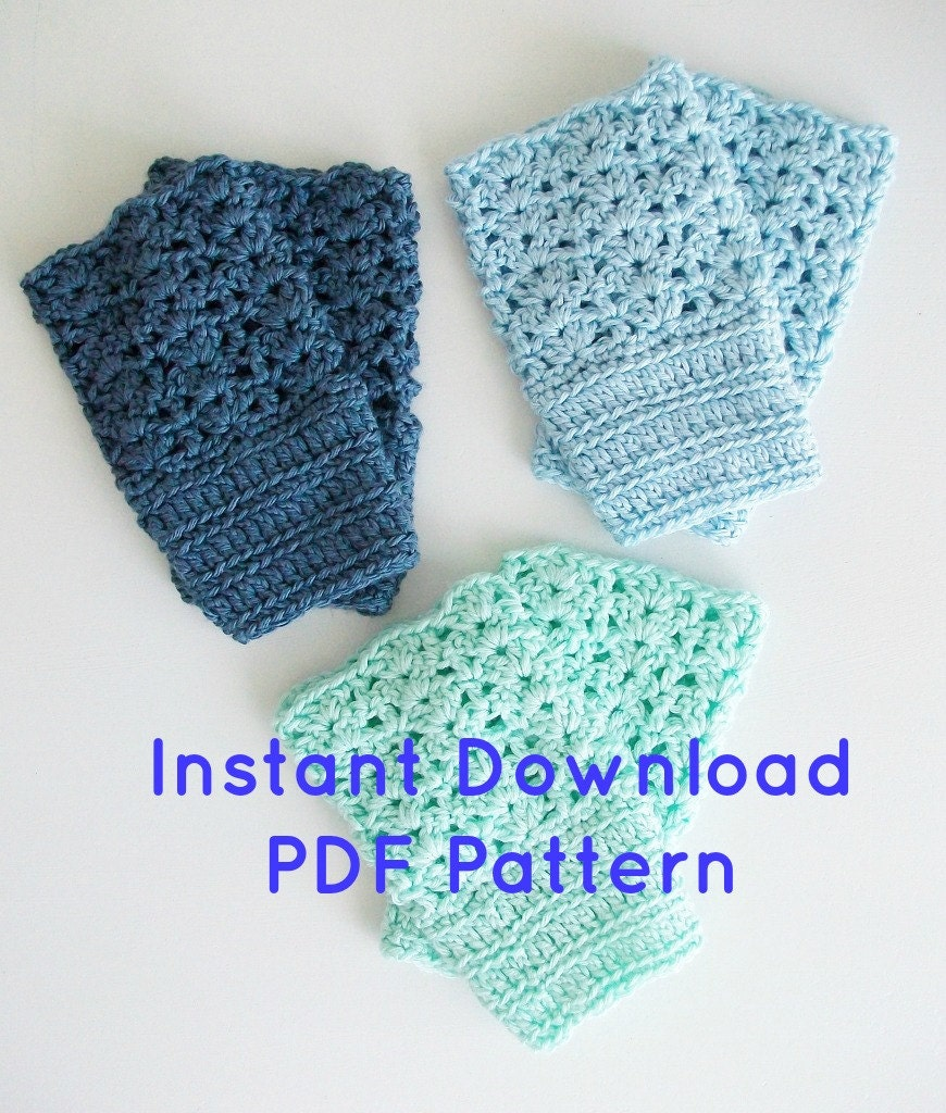 Crochet Boot Cuff Easy Pattern : Easy Crochet Boot Cuffs Pattern Instant by BlueStockinette ...
