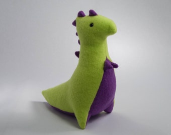 Dinosaur Plush, Green and Purple T-Rex Plush, Stuffed T-Rex Dinosaur