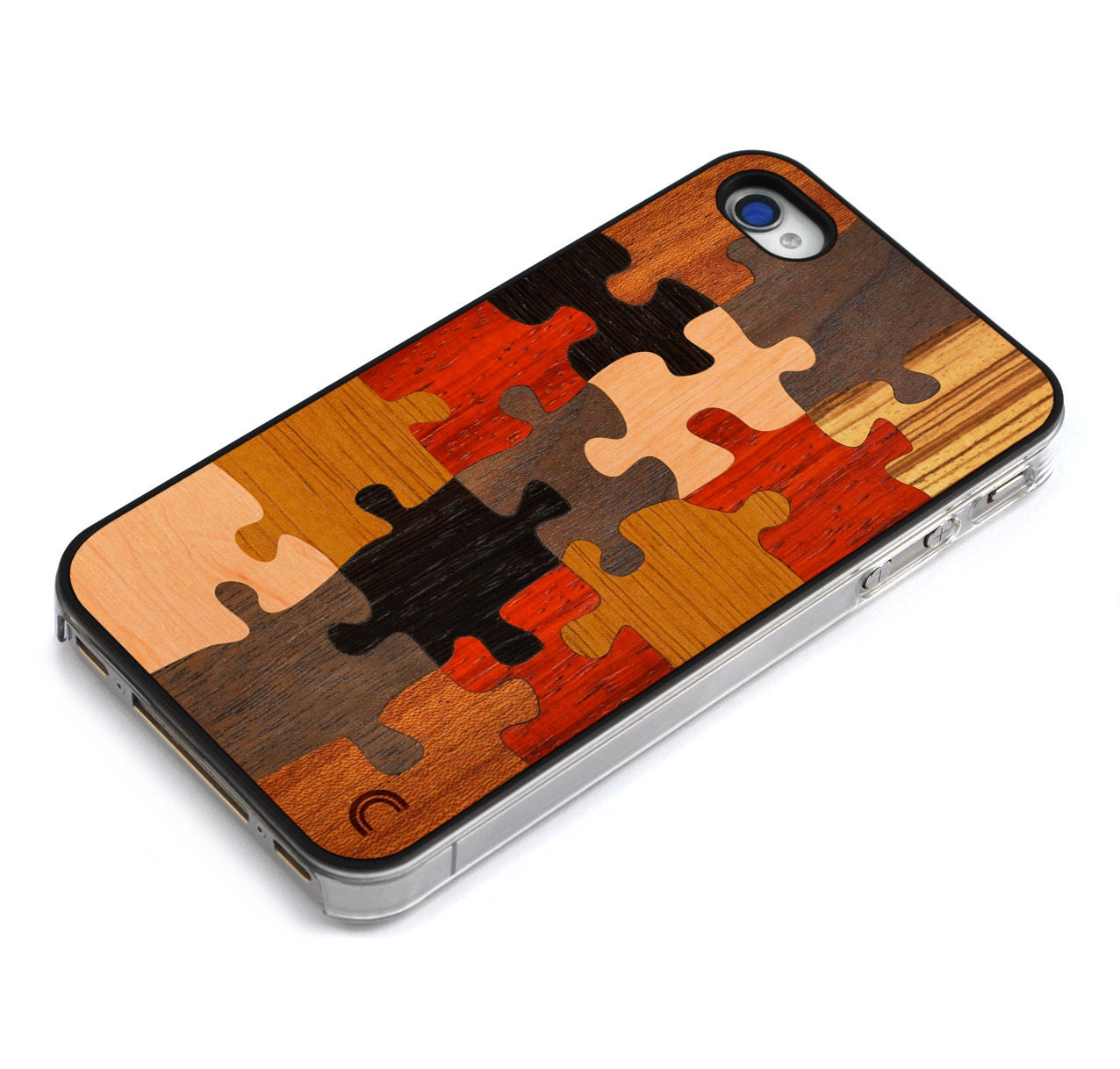 puzzle iphone 4 4s wood case puzzle iphone 4 4s by craftedcover. Black Bedroom Furniture Sets. Home Design Ideas