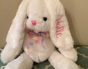 Monogrammed Easter Bunny