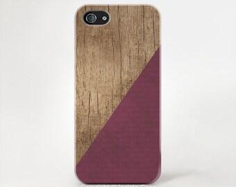 Burgundy Phone Case Wood Print iPhone 6 Case Wood Print iphone 5 Case iPhone5s Case Wood iPhone 5c case