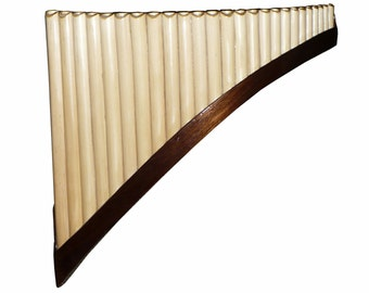 Professional Pan Flute 25 Pipes Chacon in C Walnut wood (Peru)
