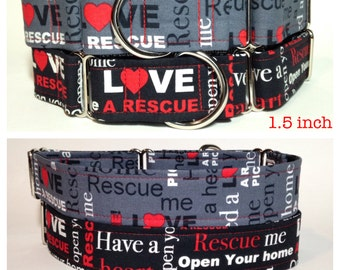 Rescue Me dog collar
