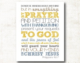 Popular Items For Philippians 4 6 7 On Etsy