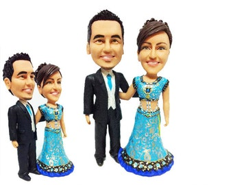 Personalised wedding cake topper - India wedding topper (Free shipping)