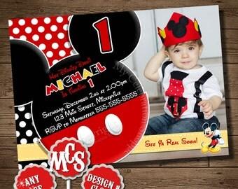 MICKEY MOUSE INVITATION, Birthday Invitation, My Celebration Shoppe, Printable Invitation, Toodle Invitation, Mickey Mouse, Toodles, Twodles