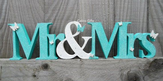 Mr And Mrs Sign Top Table Sign Wooden Mr And Mrs Letters