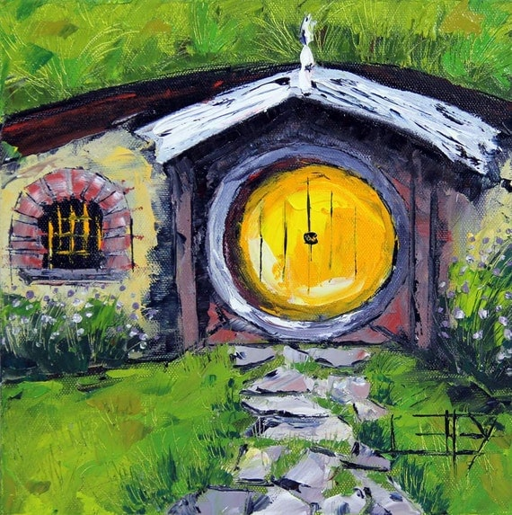 Hobbit House Painting Lord Of The Rings Hobbit Hole Lotr