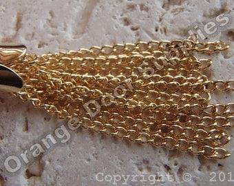 Chain Tassels Gold 35mm - 2 pcs (JBF144)