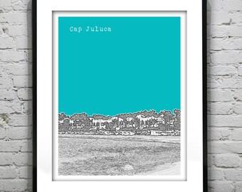 Cap Juluca Anguilla Poster Art Print Skyline Tropical Beach Honeymoon