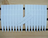 50 - 4 Inch White Plastic Plant Labels, Plant Markers, Garden Labels, Garden Markers, Nursery Supplies, Seed Starting Supplies, Greenhouse