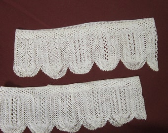 Vintage Pair of Crochet Pillow Edging
