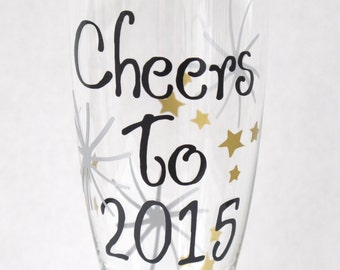 Personalized New Year's Eve Champagne Party Favor