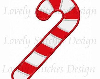 Candy Cane Applique Machine Embroidery Design NO:0266