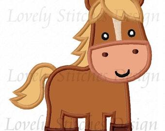 Horse Embroidery Applique Machine Design NO:0283