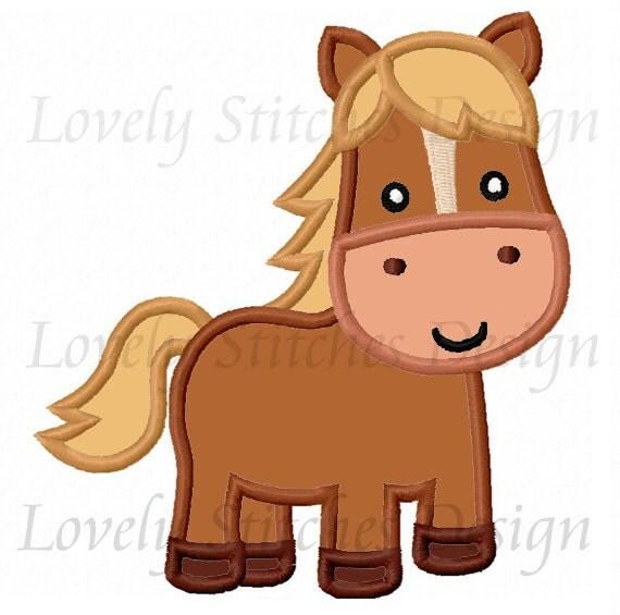 Horse embroidery applique machine design no