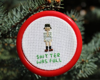 PATTERN ONLY - Christmas Vacation Ornament - Cousin Eddie - 2.5 in Christmas Ornament Cross Stitch