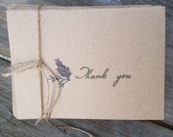 Rustic Pine Tree Thank you cards- 50 Count