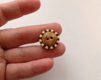 Button ring, upcycled ring, repurposed ring