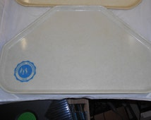 2 Vintage College cafeteria Trays Awesome Retro items