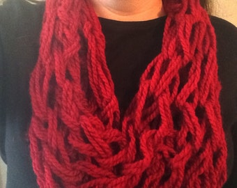 Arm Knitted Inifinity Scarf
