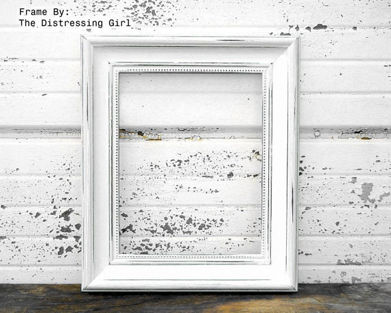 white 8x10 picture frame rustic 2 thick moulding shabby chic rustic vintage style