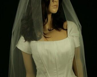 Bridal Veil -Stefania Wedding Veil- Bridal Accessories-Simply Veil-Length Cut Edge-Single Tier Veil