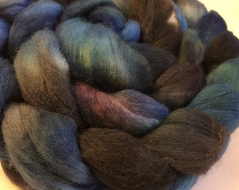 Hand Dyed Merino Wool Roving SCUBA Free Shipping