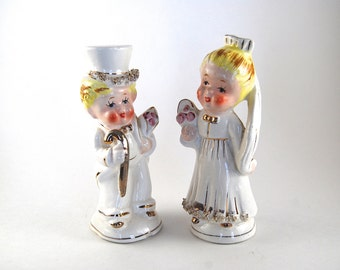 Items Similar To Custom Bride And Groom Salt And Pepper