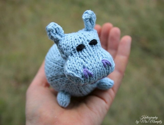 Knitting Gifts For Adults : Hippo knitting pattern for beginners and advanced knitters