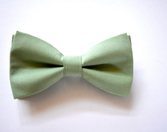 Sage bow tie, clip on bow tie, bow tie with strap for kids,green bow tie,boys bow ties