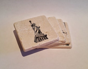 Simply New York City Coasters - Set of 4 -