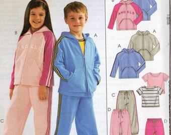 Easy Endless Options McCall's Pattern 4197 JACKET SWEAT PANTS Boys/Girls 6 7 8