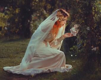 Custom wedding dress Bride Dress Romantic Vintage Victorian Shabby Chic Boho Chic