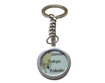 Tokyo Japan Map Pendant Key Chain