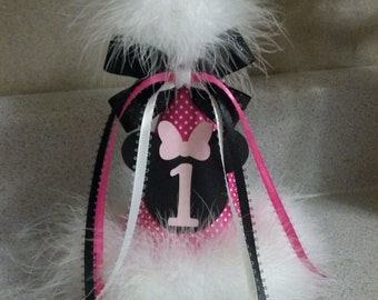 minnie mouse first birthday or any age party hat party supplies