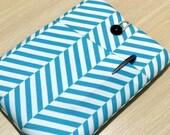 iPad Air case, Custom 10 inch Tablet sleeve, ipad case, Kindle fire HD 8.9 , ipad air sleeve, ipad pro case / Blue Herringbone