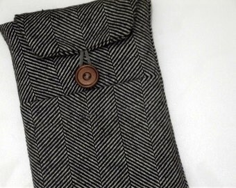 "Herringbone Kindle paperwhite sleeve, kindle case, kindle oasis  case, kindle sleeve, nexus 7 case, Custom Fit for Any 6""-8"" Tablet"