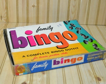 Vintage Family Bingo By Transogram  1964
