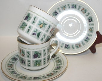 Royal Doulton Tapestry Cup and Saucer,  SET OF TWO Royal Doulton Coffee Cup, Royal Doulton Tea Cup, Fine Bone China, Royal Doulton Tapestry