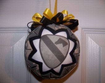 1st Cavalry Division Quilted Ornament/US Army Quilted Ornament/Army 1st Cavalry Patch/Patriotic/Army Ornament/Military Quilted Ornament