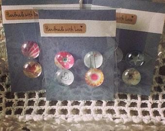 Glass Refrigerator Magnets Handmade Fridge Magnets- Pink Bird