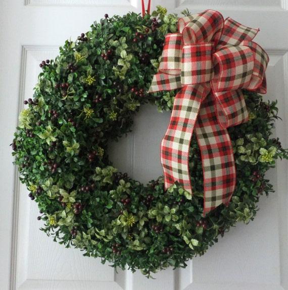 Christmas boxwood wreath artificial boxwood wreath front door wreath